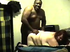 Large interracial couple fucking