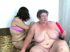 Granny gets down with fat babe
