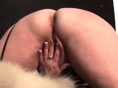 Chesty mature gets fingered and rides..