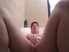 Bath tub toying and playing with..