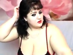 Bbw in lingerie teasing her body and..
