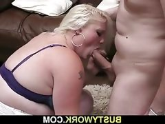 Kinky blonde plumper loves being fucked