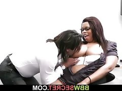 Married boss seduces his fat ebony..