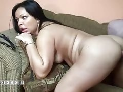 Bbw latina swingers fucked on the couch