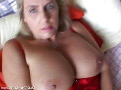 Chubby mature blonde with big tits..