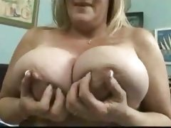 Blonde bbw deedra rae taking on a cock