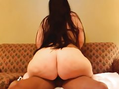 Phat white ass takes cock