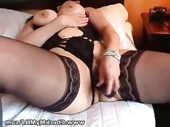 Sexy bbw milf in black stockings..