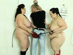 Cruel bbw bitches torturing a guy in..
