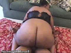 Black bbw babe fucked and jizzed on