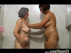 Bbw gray chubby granny with old mature..