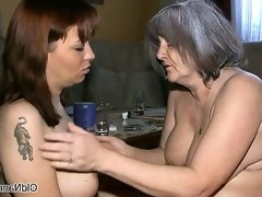Nasty old woman gets horny