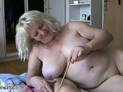 Nasty mature fat women go crazy sharing
